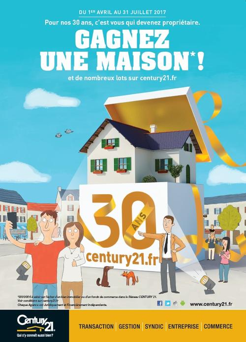 CENTURY 21 CD IMMO ANNECY GESTION TRANSACTION LOCATION 30 ANS ANNIVERSAIRE